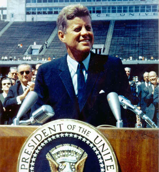 JFK speaking at Rice University